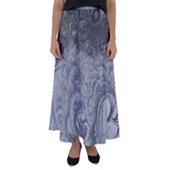 Abstract Art Decoration Design Flared Maxi Skirt