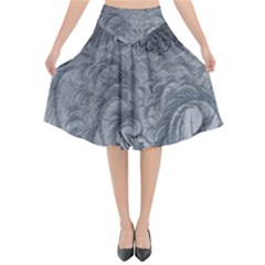 Abstract Art Decoration Design Flared Midi Skirt