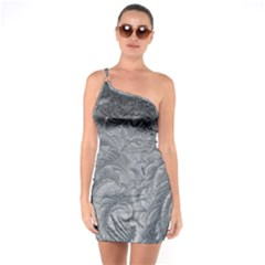 Abstract Art Decoration Design One Soulder Bodycon Dress