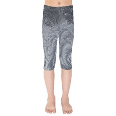 Abstract Art Decoration Design Kids  Capri Leggings