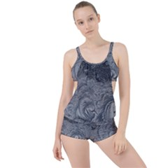 Abstract Art Decoration Design Boyleg Tankini Set