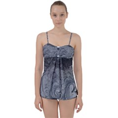 Abstract Art Decoration Design Babydoll Tankini Set