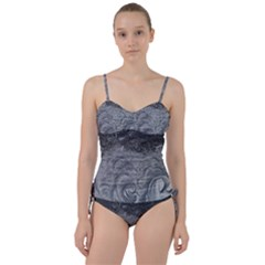 Abstract Art Decoration Design Sweetheart Tankini Set