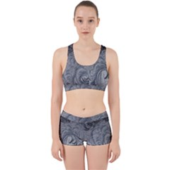 Abstract Art Decoration Design Work It Out Sports Bra Set