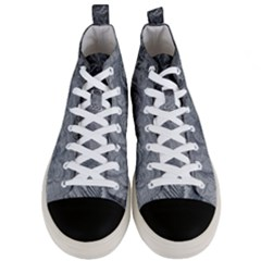 Abstract Art Decoration Design Men s Mid Top Canvas Sneakers