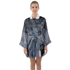 Abstract Art Decoration Design Long Sleeve Kimono Robe