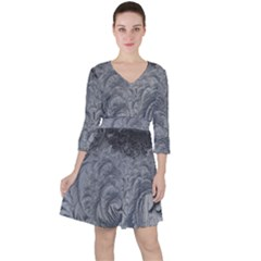 Abstract Art Decoration Design Ruffle Dress