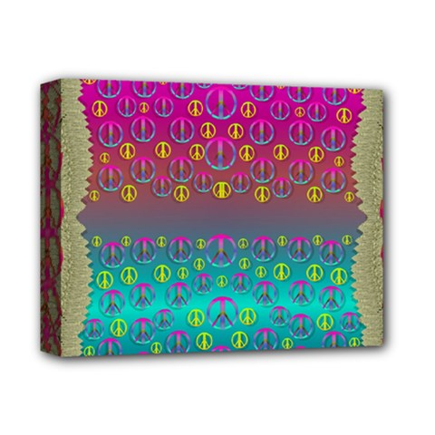 Years Of Peace Living In A Paradise Of Calm And Colors Deluxe Canvas 14  X 11