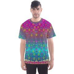 Years Of Peace Living In A Paradise Of Calm And Colors Men s Sports Mesh Tee