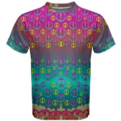 Years Of Peace Living In A Paradise Of Calm And Colors Men s Cotton Tee
