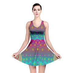 Years Of Peace Living In A Paradise Of Calm And Colors Reversible Skater Dress