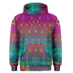 Years Of Peace Living In A Paradise Of Calm And Colors Men s Pullover Hoodie