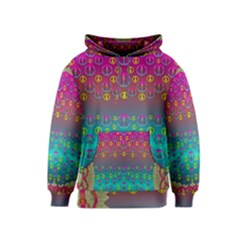 Years Of Peace Living In A Paradise Of Calm And Colors Kids  Pullover Hoodie
