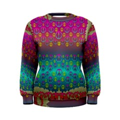 Years Of Peace Living In A Paradise Of Calm And Colors Women s Sweatshirt