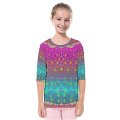 Years Of Peace Living In A Paradise Of Calm And Colors Kids  Quarter Sleeve Raglan Tee
