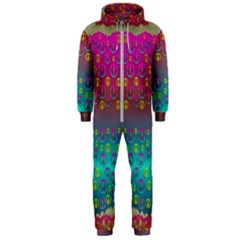 Years Of Peace Living In A Paradise Of Calm And Colors Hooded Jumpsuit (men)