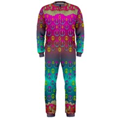 Years Of Peace Living In A Paradise Of Calm And Colors Onepiece Jumpsuit (men)
