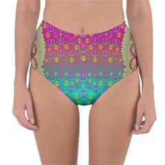 Years Of Peace Living In A Paradise Of Calm And Colors Reversible High Waist Bikini Bottoms