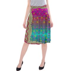 Years Of Peace Living In A Paradise Of Calm And Colors Midi Beach Skirt