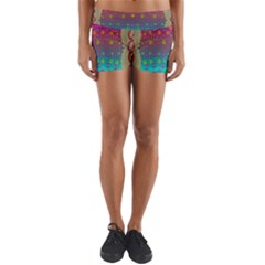 Years Of Peace Living In A Paradise Of Calm And Colors Yoga Shorts