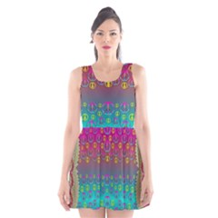 Years Of Peace Living In A Paradise Of Calm And Colors Scoop Neck Skater Dress