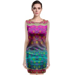 Years Of Peace Living In A Paradise Of Calm And Colors Classic Sleeveless Midi Dress