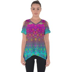 Years Of Peace Living In A Paradise Of Calm And Colors Cut Out Side Drop Tee