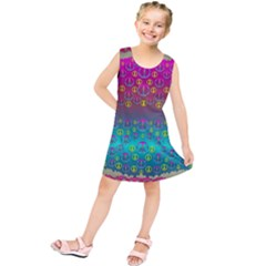 Years Of Peace Living In A Paradise Of Calm And Colors Kids  Tunic Dress