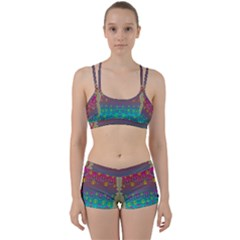 Years Of Peace Living In A Paradise Of Calm And Colors Women s Sports Set