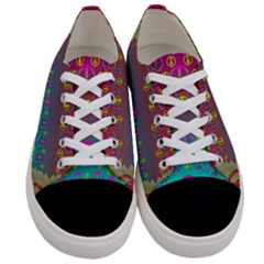 Years Of Peace Living In A Paradise Of Calm And Colors Women s Low Top Canvas Sneakers
