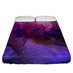 Ultra Violet Dream Girl Fitted Sheet (king Size)