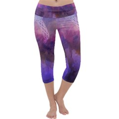 Ultra Violet Dream Girl Capri Yoga Leggings