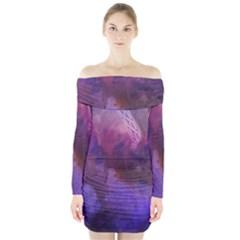 Ultra Violet Dream Girl Long Sleeve Off Shoulder Dress