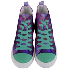 Ultra Violet Dream Girl Women s Mid Top Canvas Sneakers