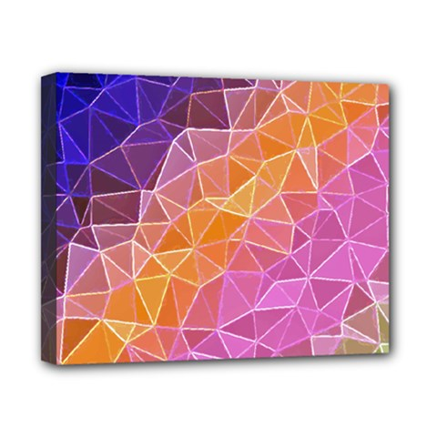 Crystalized Rainbow Canvas 10  X 8