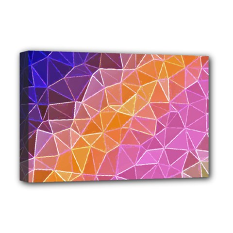 Crystalized Rainbow Deluxe Canvas 18  X 12