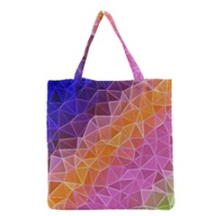 Crystalized Rainbow Grocery Tote Bag