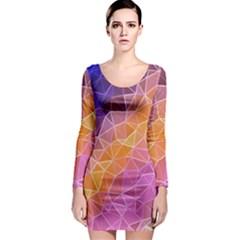 Crystalized Rainbow Long Sleeve Bodycon Dress