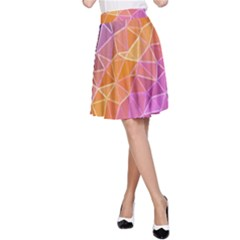 Crystalized Rainbow A Line Skirt
