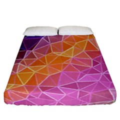 Crystalized Rainbow Fitted Sheet (queen Size)