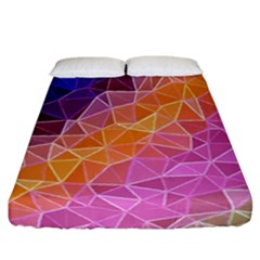 Crystalized Rainbow Fitted Sheet (california King Size)