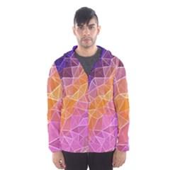Crystalized Rainbow Hooded Wind Breaker (men)