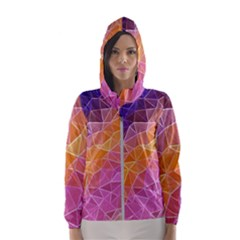 Crystalized Rainbow Hooded Wind Breaker (women)