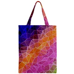 Crystalized Rainbow Zipper Classic Tote Bag