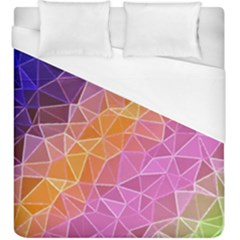 Crystalized Rainbow Duvet Cover (king Size)