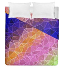 Crystalized Rainbow Duvet Cover Double Side (queen Size)