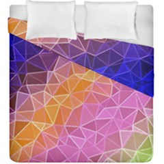 Crystalized Rainbow Duvet Cover Double Side (king Size)