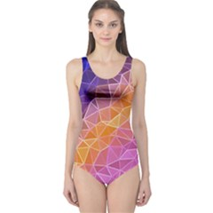 Crystalized Rainbow One Piece Swimsuit