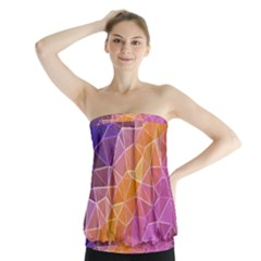 Crystalized Rainbow Strapless Top