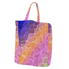 Crystalized Rainbow Giant Grocery Zipper Tote